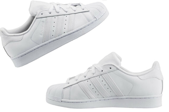 reputable site 672dd 31fc4 Adidas Kids Youth Originals all white Classic Superstar B23641