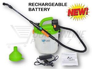 5l rechargeable weed sprayer garden electric spray unit battery powered 12v 240v ebay