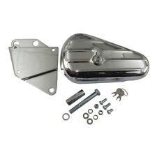Werkzeugbox, Toolbox Chrom mit Halter links für Harley - Davidson Softail 84-99
