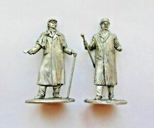 1-32-Lot-Sherlock-Holmes-and-Dr-Watson-British-detective-Tin-Metal-Figure-54mm
