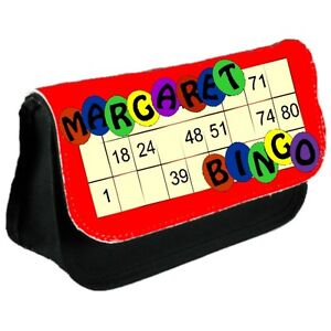 Personalised Bingo Pen Carry Bag / Clutch Bag / Ideal for Daubers and Glasses