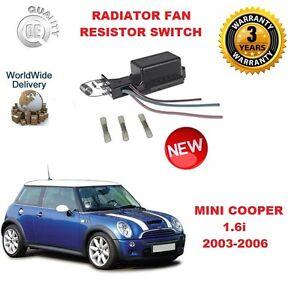 FOR-MINI-ONE-COOPER-S-1-6-2003-2006-BRAND-NEW-RADIATOR-FAN-RESISTOR-SWITCH