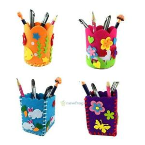 Educational-Child-Kids-DIY-Pencil-Holder-Storage-Box-Craft-Baby-Toy-Puzzle-Kits