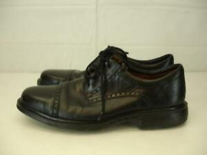 Mens-sz-9-m-Clarks-Unstructured-Un-l-039-Olaf-en-Cuir-Noir-Robe-Chaussures-Oxford-Lacets