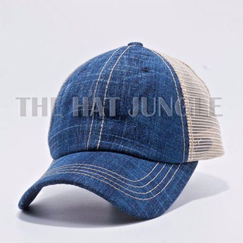 Plain Pigment Dyed Unstructured Dad Hat Trucker Buckle Baseball Cap Burgundy
