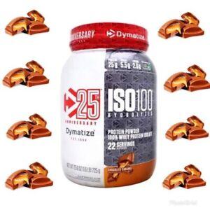 Dymatize-ISO-100-Hydrolyzed-Whey-Isolate-1-6-Lb-NEW-Flavor-Chocolate-Caramel