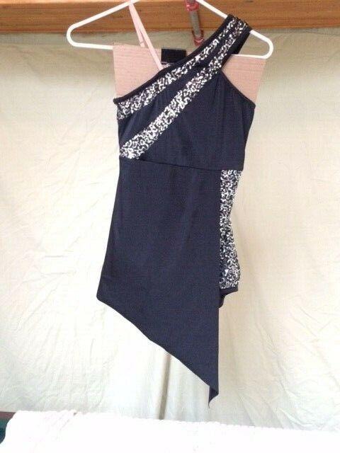 Black & Silver Sequin Adult Contemporary Dance Costume