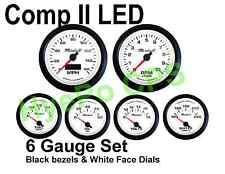 Comp Ii 2 Sport Led 6 Gauge Auto Gauge Meters Hot White With Black Bezel Usa Made