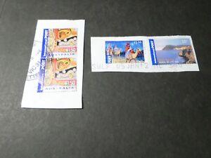 AUSTRALIE AUSTRALIA, LOT 4 timbres dont NOEL 2011 CHRISTMAS oblitérés, VF STAMPS