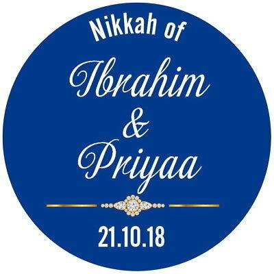 24 Personalizzata Gloss Nikkah Borsa Festa Matrimonio Favore Etichette Adesivi Di Ringraziamento-mostra Il Titolo Originale