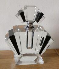 vintage Art deco style geometric perfume bottle