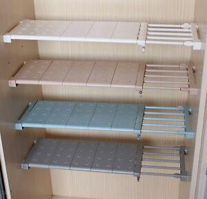 Expandable Shelf Closet Organizer Storage Bar Clothes