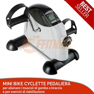 MINI-BIKE-CYCLETTE-PEDALIERA-ALLENATORE-BRACCIA-GAMBE-TRAINING-COMPUTER