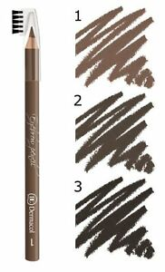DERMACOL-SOFT-EYEBROW-PENCIL-LINER-BRUSH-EYE-BROW-DEFINER-COMB-COSMETICS-DC-NEW