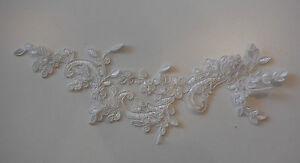 Blanco-crudo-boda-encaje-floral-Aplique-encaje-motivo-29-7cmx7cm-by-pieza