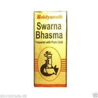 Gold Ash Pure Gold Swarna Bhasma Baidyanath 500mg Prepared With Gold Naturally