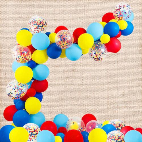 Latex Ballon Girlande Ballonbogen Konfetti Luftballon Rot Blau Kinder Party Deko