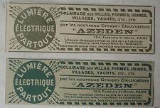 Publicité ancienne Groupe electrogéne Azeden   1910