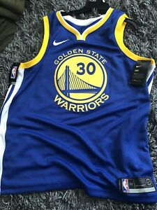 best service f9e15 38a36 Details about Nike NBA Golden State Warriors Stephen Curry Swingman Jersey  864475-495 Men's XL