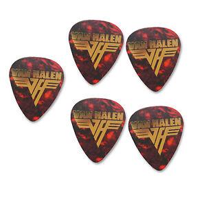 eddie van halen x5 tortoise shell signature print plectrum guitar picks picks 27132238668 ebay