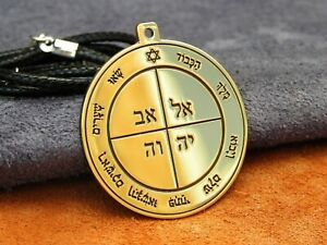 The first pentacle of the Sun. grimoire Occult jewelry magic necklace