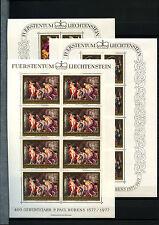 Liechtenstein 1976 SG#640-2 Peter Paul Rubens MNH Sheets Set Cat £52 #D40573