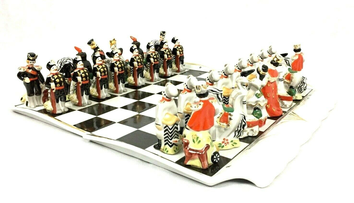 Vintage Verbilky Porcelain Russian Chess Set