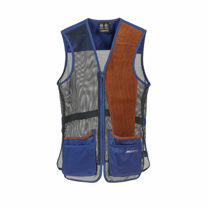 Musto Competition Clay Shooting Skeet Vest in Royal Blau - RH & LH