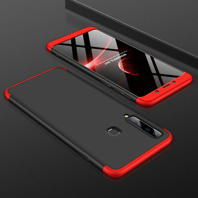 For Samsung Galaxy A9 2018 Case 360° Full Protective Armor Cover+Tempered Glass