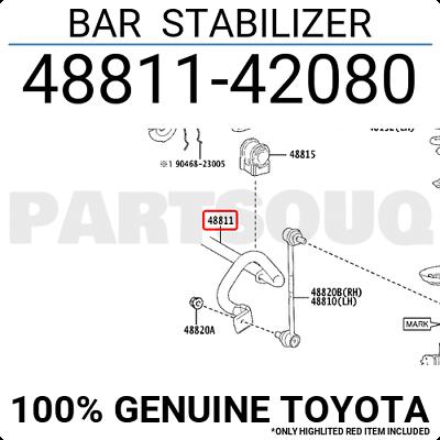 Toyota 48811-48120 Stabilizer Bar