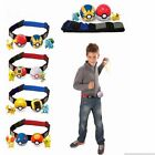 Pokemon Clip Carry Kids Adjustable Poke Ball Belt Figures Pretend Play Game Sets