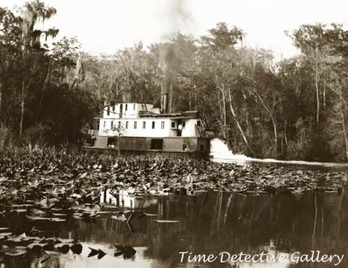 Historic Photo Print Florida Oklawaha River Okeehumke Steamboat 1902