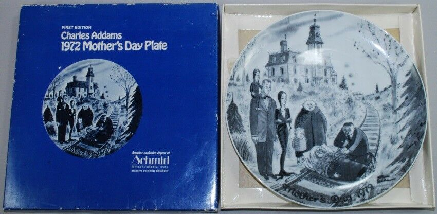 Addams Family Chas Charles 1972 Schmid Collector Plate Railroad Tracks Boxed