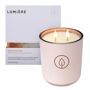 Lumiere Rose Gold Temptation Candle - White Peony Jasmine & Tuberose