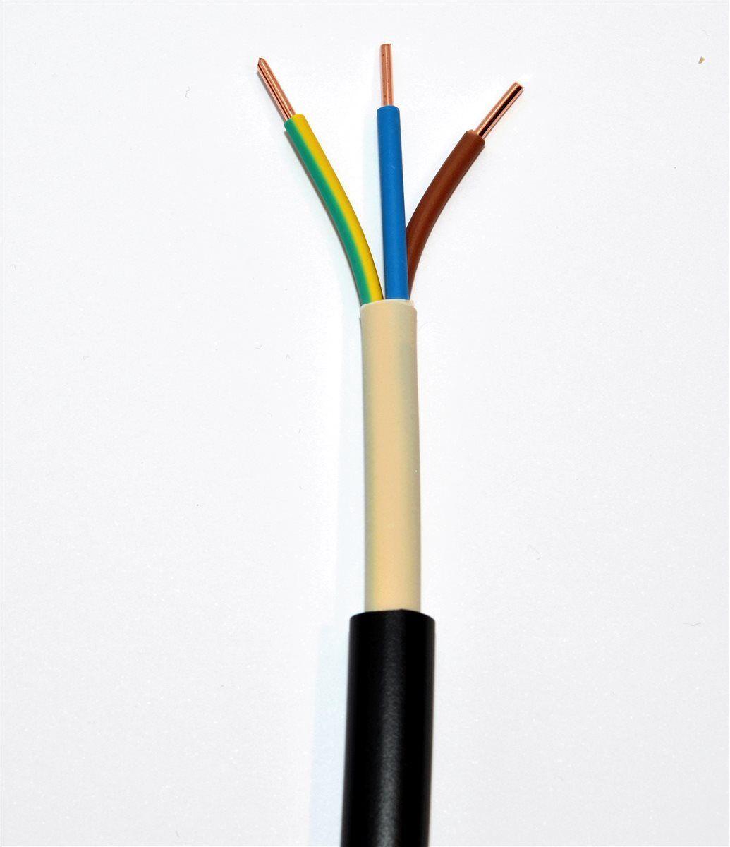 Erdkabel NYY-J 3x2,5 mm² schwarz, Ring 50m, 3x2,5qmm