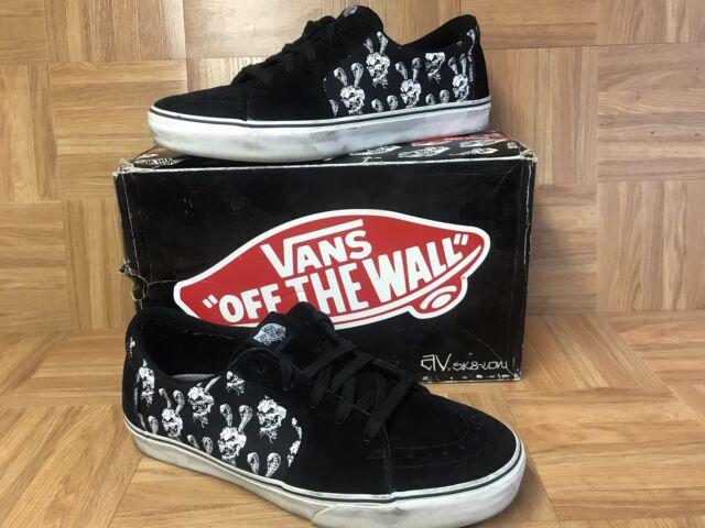 RARE🔥 VANS AV SK8-Low Taka Hayashi Black Skulls White Size 13 Men s Shoes f512e91de9