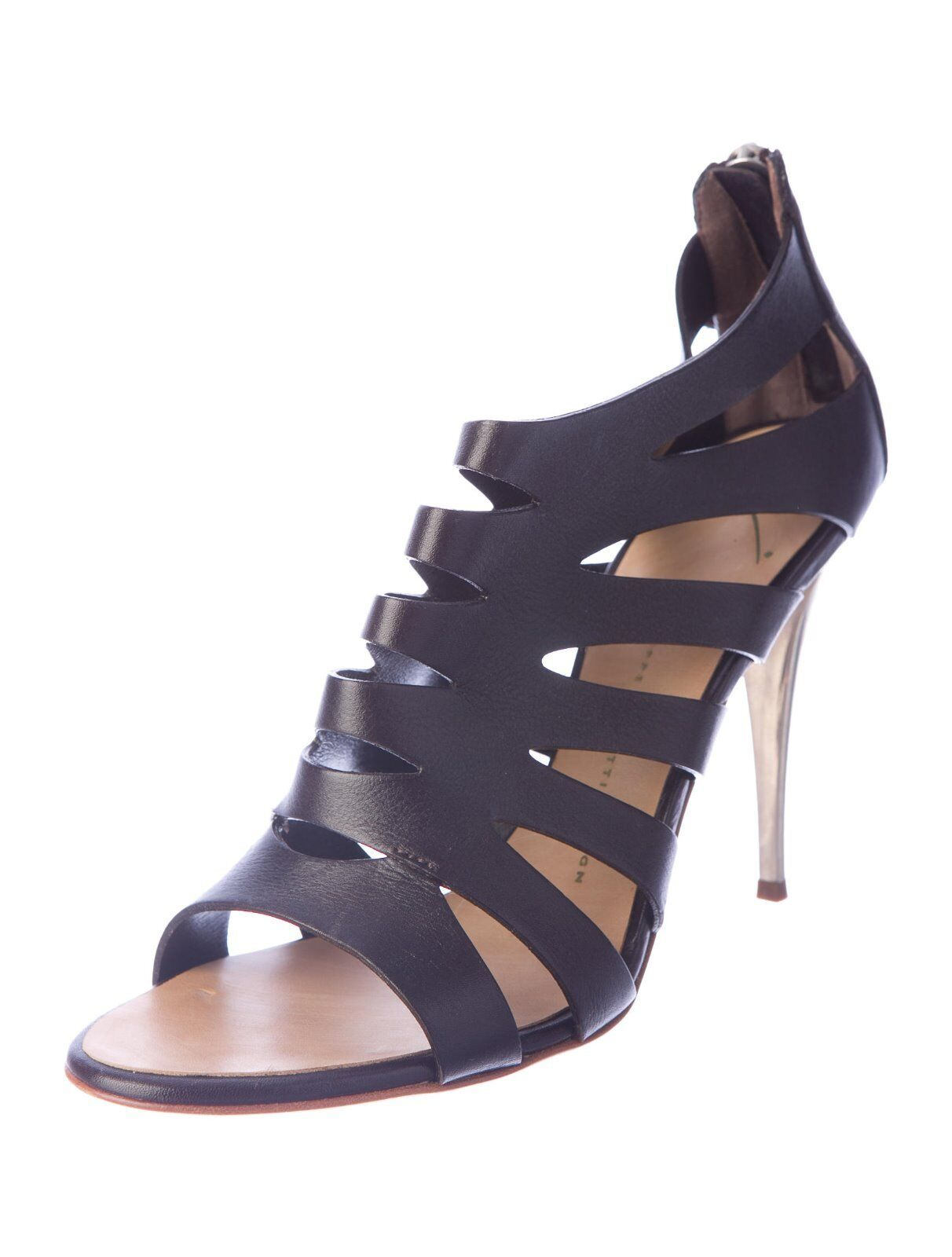 SPECTACULAR NEW SOLD OUT DARK BROWN GIUSEPPE ZANOTTI CAGE SANDALS