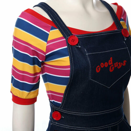 Child/'s Play Cosplay Chucky Costume Cult of Chucky Women Outfit Buddi Girl Dress