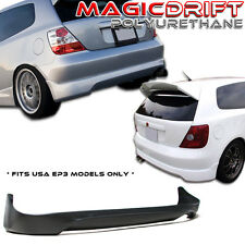 02 03 04 05 Civic 3dr Si EP3 Type-R CTR Style Rear Bumper Lip Urethane Plastic