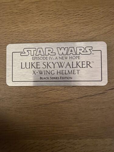 Star Wars The Black Series Luke Skywalker Helmet Plaque
