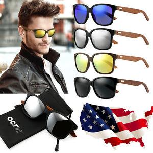 Bamboo-Sunglasses-Wooden-Wood-Mens-Womens-Retro-Vintage-Summer-Glasses-Eyewear