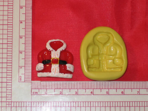 Christmas Santa Coat Silicone Mold A761 For Chocolate Resin Clay Soap Wax
