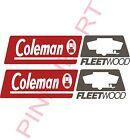 coleman fleetwood rv camper logo pop up decal sticker popup decals