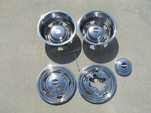 07-08-09-10-11 17 ford f350 wheel simulators dually bolt on 2wd 4wd new steel