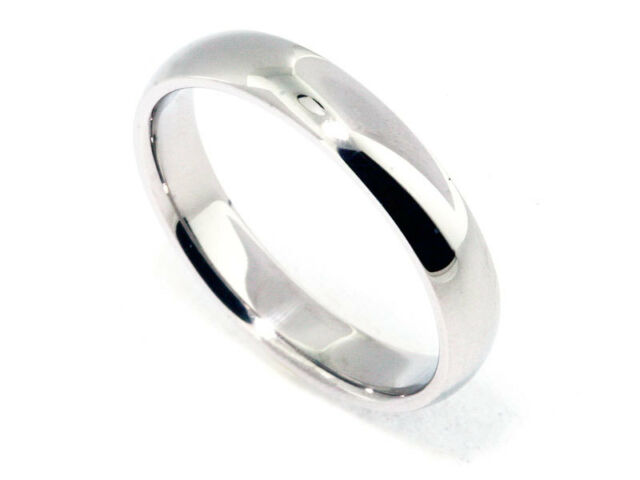 10k Solid White Gold 5mm Size 8 Plain Mens and Womens Wedding Band Ring 5 MM