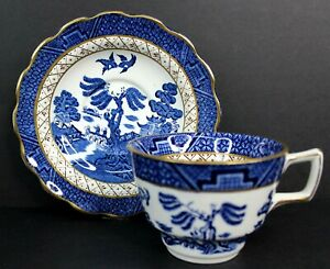 Vintage-Booths-Real-Old-Willow-A8025-Breakfast-Cup-and-Saucer-England