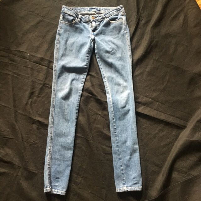 Forever 21 Blue Jeans Denim 24 Woman's Skinny Ankle Waist NWT 32
