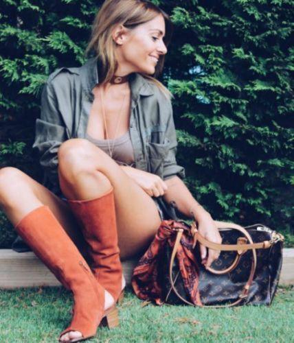 Zara Basic caña sandalia botas de cuero de gamuza gamuza gamuza Suede teja 36-40 antelina  barato y de alta calidad