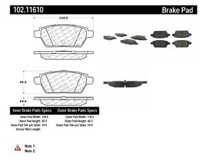 Centric 105.16461 Ceramic Brake Pad