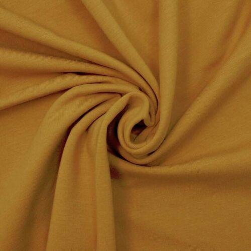 Français en COTON JERSEY UNI-jaune moutarde-stretch tissu de coton couture